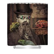 The Chameleon Collector Shower Curtain by Eric Fan