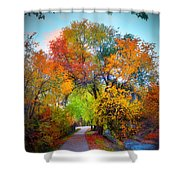 The Changing Tree Shower Curtain