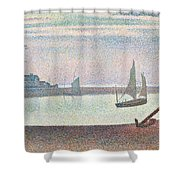 The Channel At Gravelines In The Evening Shower Curtain