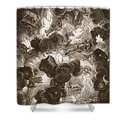 The Chaos, Engraved By Bernard Picart Shower Curtain