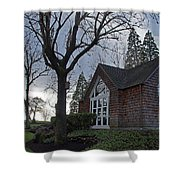 The Chapel At Eagle Point National Cemetery Shower Curtain