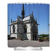The Chapel Of Saint-hubert Amboise Shower Curtain
