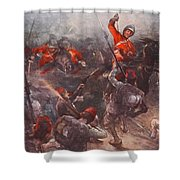 The Charge Of Drury Lowes Cavalry Shower Curtain