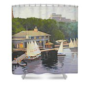 The Charles River Sailing Club Shower Curtain