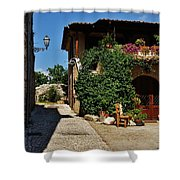 The Charming Patio Shower Curtain