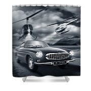 The Chase 2 Shower Curtain