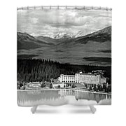The Chateau Lake Louise Shower Curtain