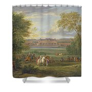 The Chateau Of Saint Germain Oil On Canvas Shower Curtain