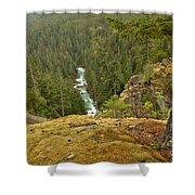 The Cheakamus River Gorge Shower Curtain