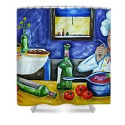 The Chef Shower Curtain