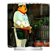 The Chef In The Window Shower Curtain