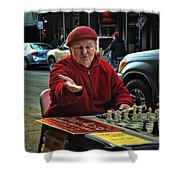 The Chess King Jude Acers Of The French Quarter Shower Curtain
