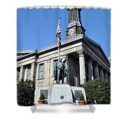 The Chester County Courthouse In West Chester Pa Shower Curtain