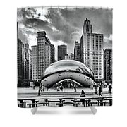 The Chicago Bean II Shower Curtain