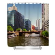 The Chicago River South Branch Shower Curtain