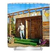 The Chicken Poop In Chicken-alaska Shower Curtain