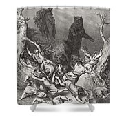 The Children Destroyed By Bears Shower Curtain