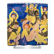 The Chorus Line Shower Curtain by Don Larison