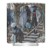 The Christening Gate In Lausanne, C.1861 Shower Curtain
