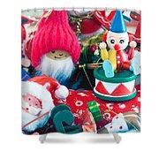 The Christmas Clown II Shower Curtain