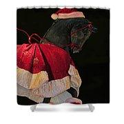 The Christmas Horse Shower Curtain