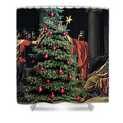 The Christmas Tree Of The Horatii Shower Curtain