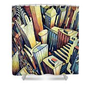 The Chrysler Building Shower Curtain by Charlotte Johnson Wahl