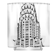 The Chrysler Building Shower Curtain by Luciano Mortula