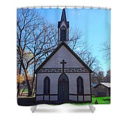 The Church At Billie Creek Shower Curtain
