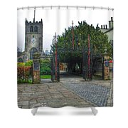 The Church Gate At Kirklands In Kendal Shower Curtain