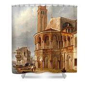 The Church Of Santa Maria E San Donato In Murano Shower Curtain