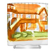 The Church On Shepherd Street Vi Shower Curtain
