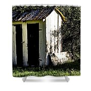 The Church Outhouse Shower Curtain