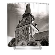 The Church With The Dormers On The Steeple Shower Curtain