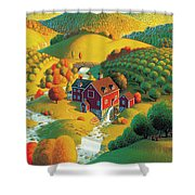 The Cider Mill Shower Curtain by Robin Moline