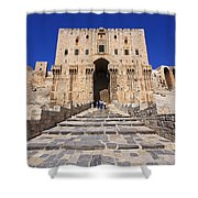 The Citadel In Aleppo Syria Shower Curtain