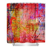 The City 35a Shower Curtain