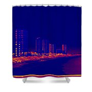 The City At The Beach Shower Curtain
