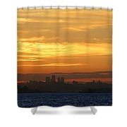 The City From Across The Bay Shower Curtain