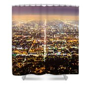The City Grid Shower Curtain