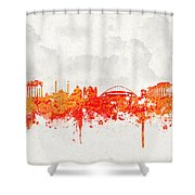 The City Of Athens Greece Shower Curtain by Aged Pixel