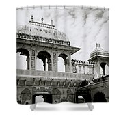 The City Palace Udaipur Shower Curtain