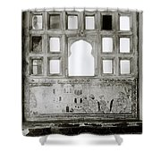 The City Palace Window Shower Curtain