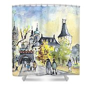 The City Park In Budapest 02 Shower Curtain