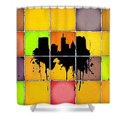 The City Splash Shower Curtain