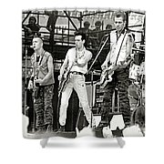 The Clash 1982 Shower Curtain by Chuck Spang