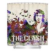The Clash Portrait Shower Curtain