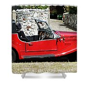 The Classic Red Convertible  Shower Curtain