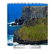 The Cliffs Of Moher In Ireland Shower Curtain