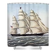 The Clipper Ship Flying Cloud Shower Curtain